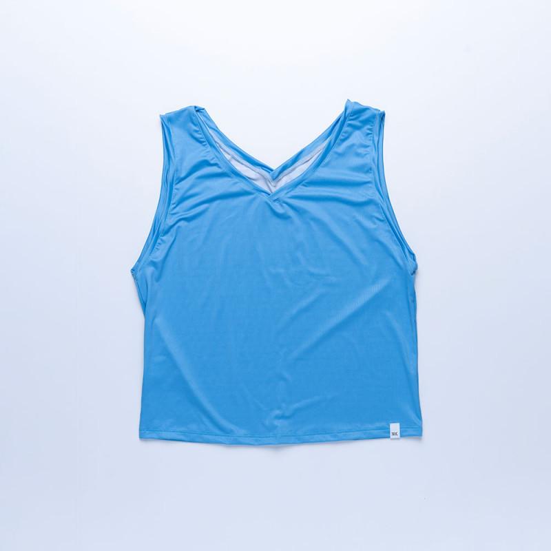 Camiseta Sira tejido reciclado Celeste