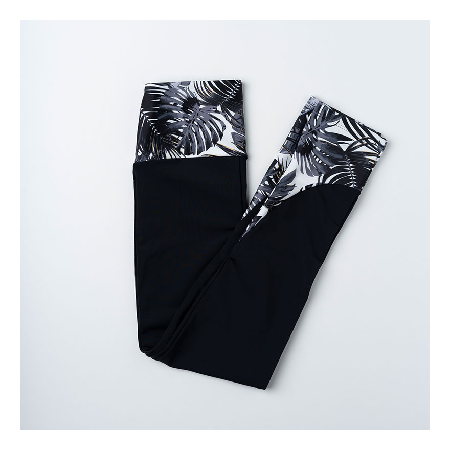Mimosa Black & Tropical B&W - Legging